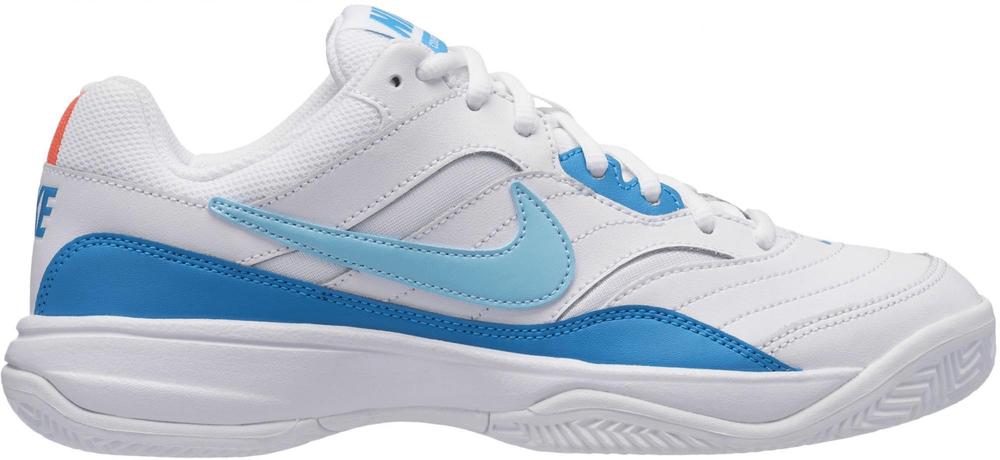 Nike Court Lite Clay Tennis Shoe White Bleached Aqua-Neo Turq-Hot Lava 38 b0964d7a1b