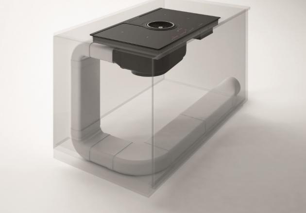 Indukční varná deska Elica NIKOLATESLA BL/A/83 integrovaný centrální ventilátor