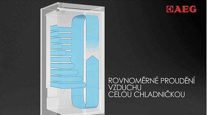 Volně stojící kombinovaná chladnička AEG RMB66111NX LCD displej