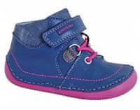 Protetika Dievčenské členkové topánky barefoot Lens 23 - modré