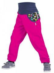 b4f5425e5d772 Unuo Dívčí softshellové kalhoty s fleecem Souhvězdí medvěda Fuchsia - růžové