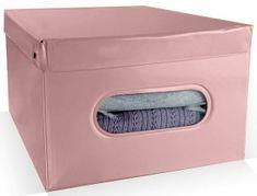 03b280c58 Compactor Nordic skladací úložný box PVC so zipsom, ružový (Antique)