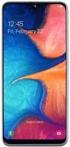 Samsung Galaxy A20e, bezrámčekový displej, HD+, vysoké rozlíšenie, duálny fotoaparát, širokouhlý.