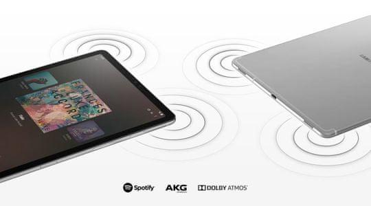 Samsung Galaxy Tab S5E, štyri reproduktory, priestorový zvuk, AKG, Dolby Atmos