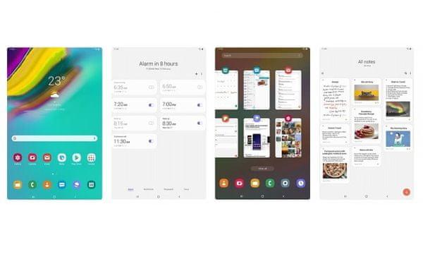 Samsung Galaxy Tab S5E, intuitívne ovládanie, One UI