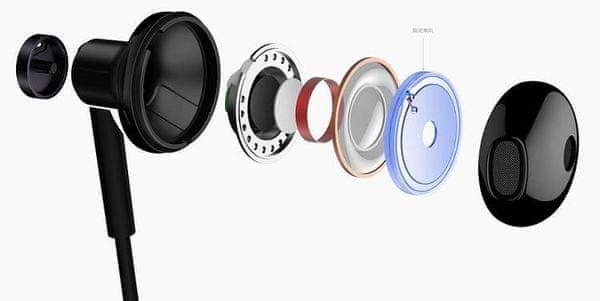 Značkové káblové slúchadlá Xiaomi Mi Dual Driver Earphones, vysoký rozsah, kvalitný zvuk