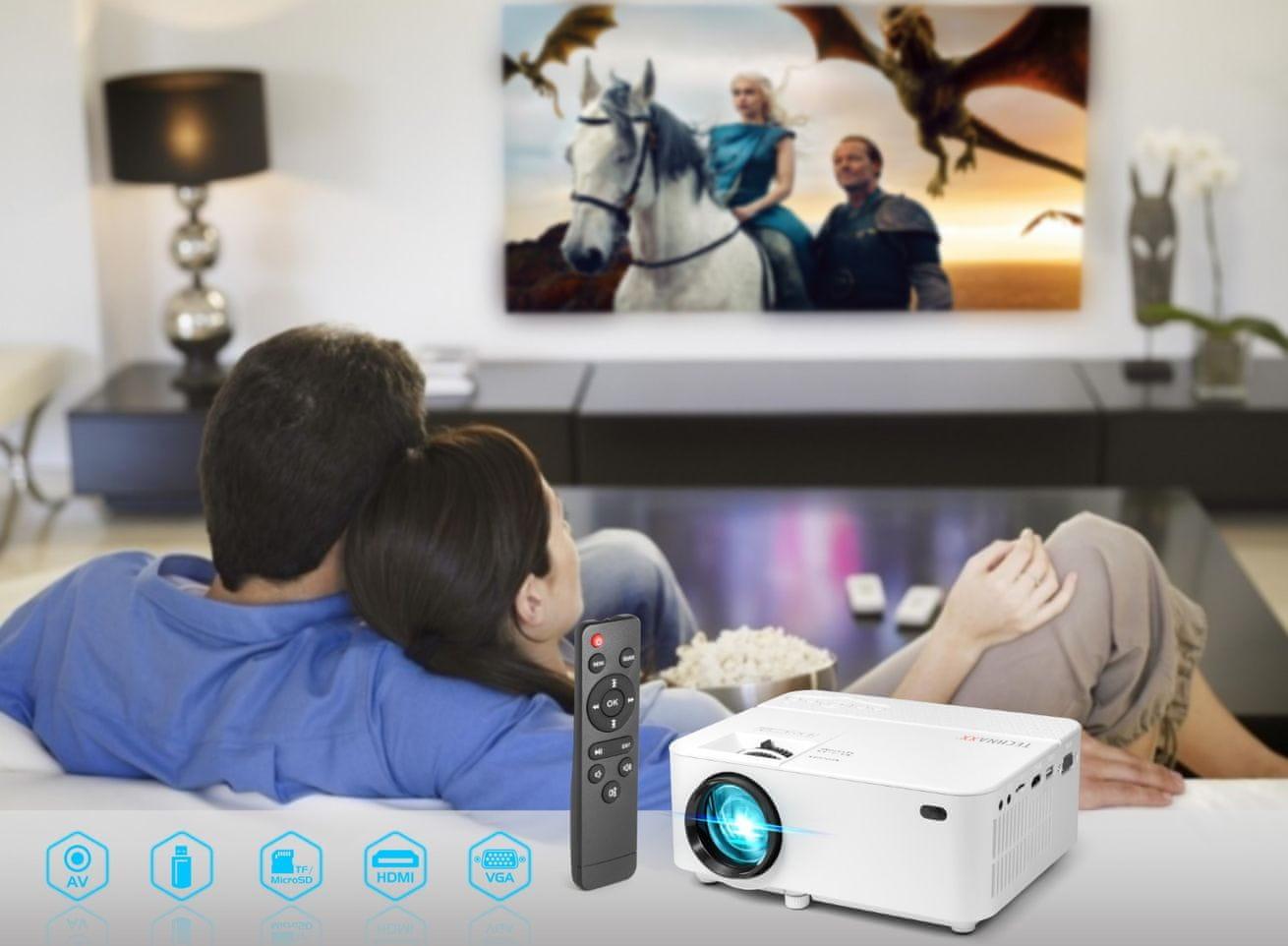 Projektor Technaxx TX0441 (4781) Full HD 1 800 lm výdrž LED