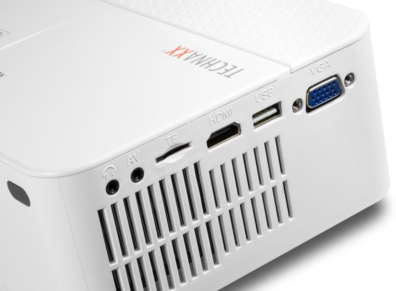 Projektor Technaxx TX0441 (4781) HDMI 3,5 mm jack USB VGA compatibility multimediálny prehrávač