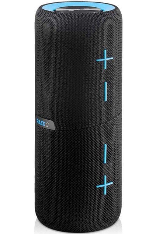 Bezdrôtový reproduktor Niceboy RAZE 2 twins bluetooth priestorový 360° zvuk všesmerový 3d audio efekt silný čistý zvuk true wireless technológia IPX7 ochrana pred vodou vodeodolný pogumovaný kryt rýchle spárovanie