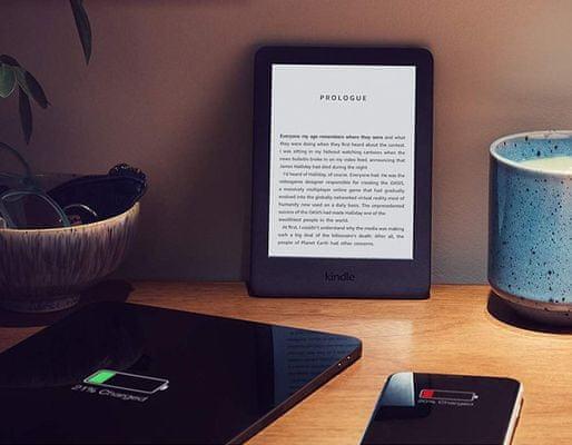 Čítačka e-kníh Amazon Kindle 2019, dlhá výdrž na jedno nabitie, veľkokapacitní batéria