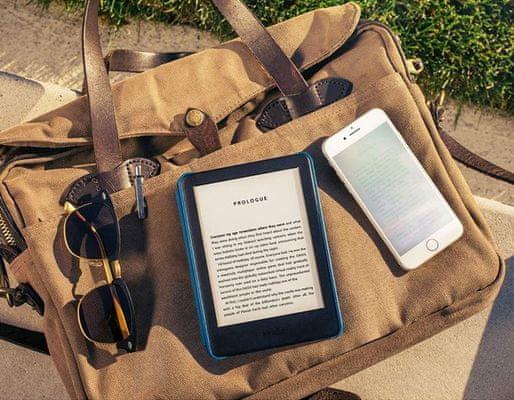 Čítačka e-kníh Amazon Kindle 2019, e-ink displej, elektronický atrament, LED nasvietenie