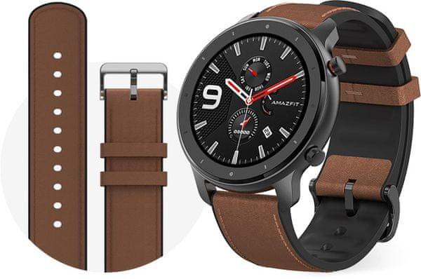 Inteligentné hodinky Xiaomi Amazfit GTR, kovové, kožený opasok, Gorilla Glass, elegantné, dizajnové