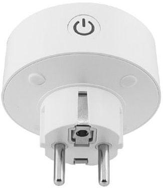 Inteligentná Wi-Fi zásuvka IQ-Tech SmartLife WS007, Wi-Fi zásuvka, 10 A, zapínanie a vypínanie na diaľku, časovač, časový plán spínanie
