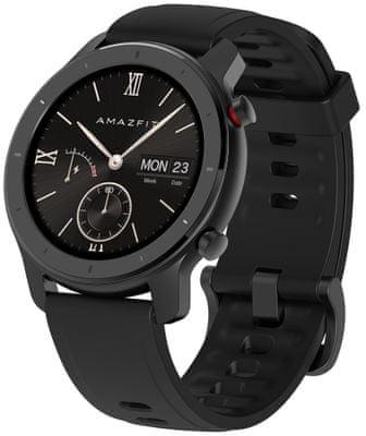 Inteligentné hodinky Xiaomi Amazfit GTR 42 mm, farebný AMOLED displej, dlhá výdrž, multisport, GPS, Glonass, tepová frekvencia, srdcové zóny, Gorilla Glass
