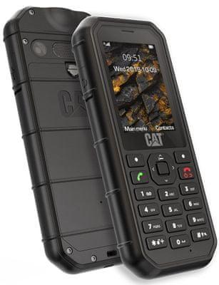 CAT B26, odolný tlačidlový telefón, vodotesný, prachuvzdorný, odolný proti nárazu, krytie IP68, dlhá výdrž batérie, Dual SIM, pamäťová karta, LED svietidlo