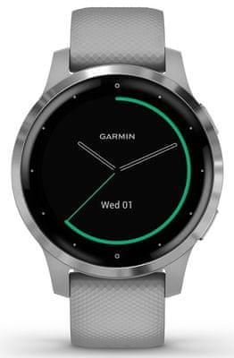 Chytré hodinky Garmin vivoactive 4S, smart watch, pokročilé, zdravotné funkcie, tep, dych, menštruačný cyklus, pitný režim, metabolizmus, kalórie, vzdialenosti, kroky, aktivita, odpočinok, spánok