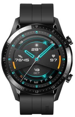 Inteligentné hodinky Huawei Watch GT 2, dizajn klasických hodiniek, sledovanie tepu, spánku, tréningový režim, dlhá výdrž, vodotesné, GPS, Glonass, dlhá výdrž, telefonovanie, hudobný prehrávač, AMOLED displej