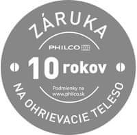 Philco predĺžená záruka 10 rokov na ohrievacie teleso