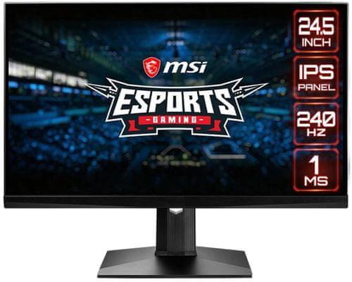 herný monitor MSI Optix MAG251RX (Optix MAG251RX) uhlopriečka 24,5 palcov zakrivená obrazovka