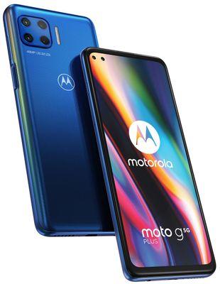 Motorola G 5G Plus, velký displej, Full HD+, 90 Hz, HDR10, čtyřnásobný fotoaparát, ultraširokoúhlý, duální širokoúhlá selfie, makro, mobilní síť 5G, dlouhá výdrž baterie