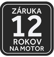 12-ročná záruka na motor Direct Motion