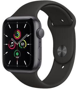 Chytré hodinky Apple Watch SE MYDP2HC/A, Retina displej stále zapnutý EKG monitorování tepu srdeční činnosti hudební přehrávač volání notifikace NFC platby Apple Pay hluk App Store