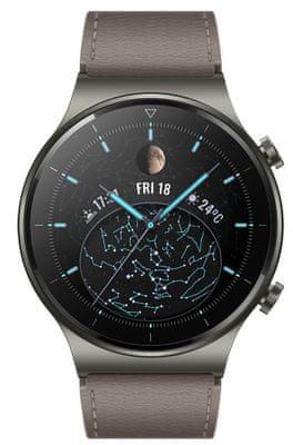Chytré hodinky Huawei Watch GT 2 Pro, elegantní design, titanové tělo, safírové sklo, sledování tepu, spánku, tréninkový režim, multisport, dlouhá výdrž, bezdrátové nabíjení, vodotěsné, GPS, dlouhá výdrž, hudební přehrávač, AMOLED displej