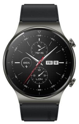 Inteligentné hodinky Huawei Watch GT 2 Pro, elegantný dizajn, titánové telo, zafírové sklo, sledovanie tepu, spánku, tréningový režim, multisport, dlhá výdrž, bezdrôtové nabíjanie, vodotesné, GPS, dlhá výdrž, hudobný prehrávač, AMOLED displej