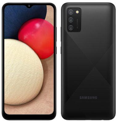 Samsung Galaxy A02s, veľký displej, dlhá výdrž, veľkokapacitná batéria, výkonný procesor, tri fotoaparáty