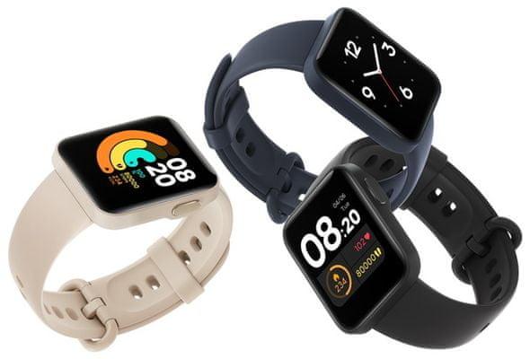 Chytré hodinky Xiaomi Mi Watch Lite, Black, farebný TFT displej, dlhá výdrž, multisport, GPS, Glonass, tepová frekvencia, srdcové zóny